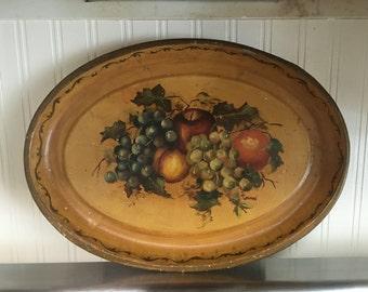 Pretty Vintage Autumn Colored Tray