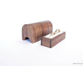 Wedding ring box | ring bearer box | ring display | ring box | personalized box | wedding ring holder | wedding ring pillow | wood ring box