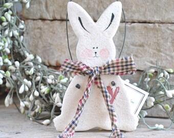 Easter Bunny Salt Dough Bunny Ornament
