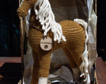 American Saddlebred Crochet Horse with Markings