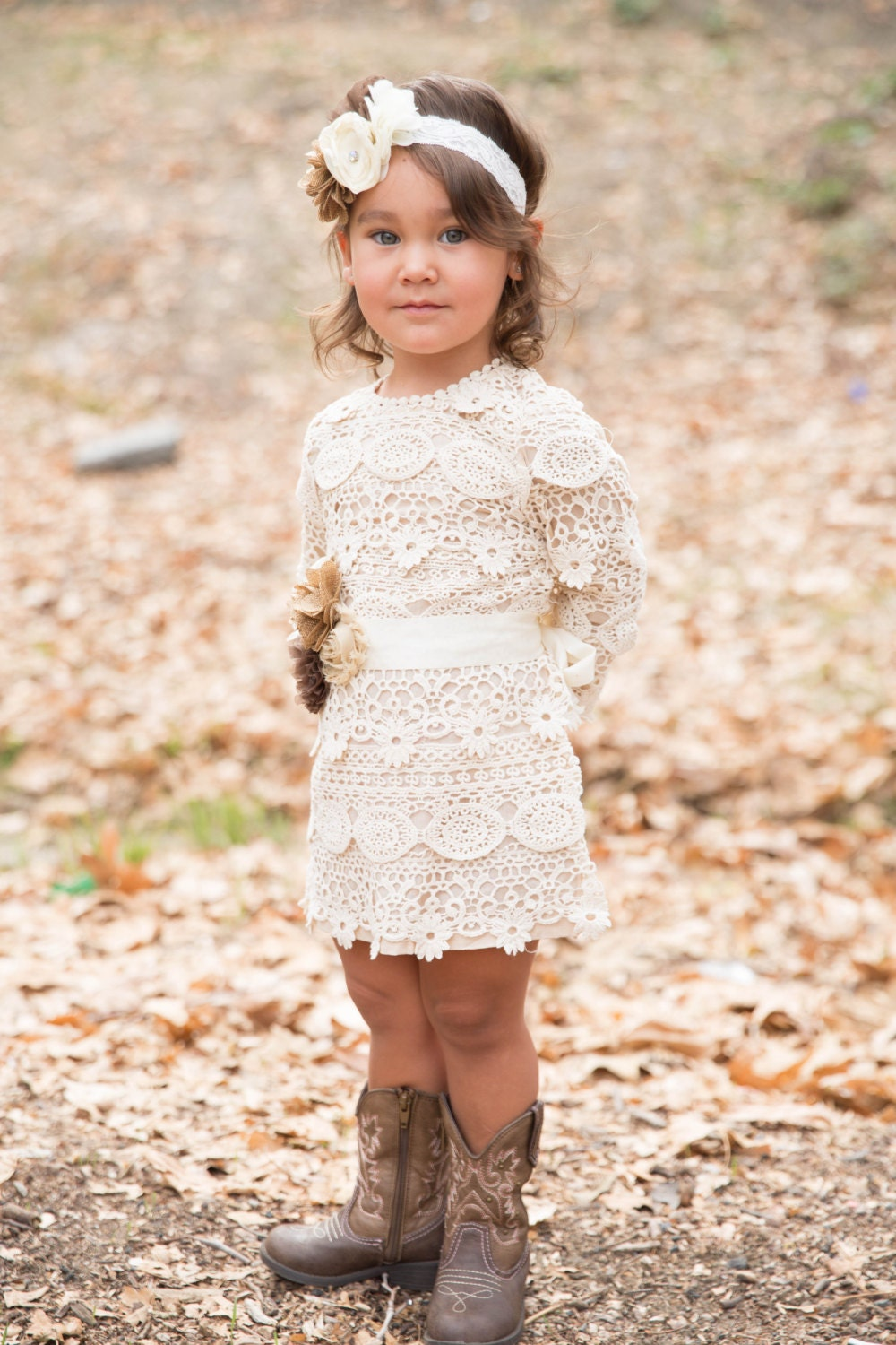 lace baby dress flower girl dress rustic lace by