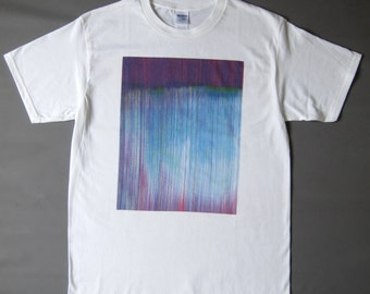 Blue Glitch printed T-shirt (made to order)