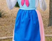FAIRY GODMOTHER CINDERELLA Disney princess inspired Costume Apron. Teen/ Adult Women sizes 0-14 Halloween Birthday Party Photo Dress up Cape