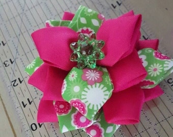 """5"""" Spring Themed Rose Boutique Bow"""