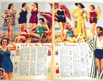 Vintage 1930's Catalog 1938 Sears Catalog Small Format Midsummer Sale 1930's Fashion History