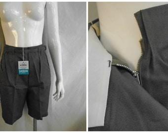 Vintage 1950's Shorts Grey Bermuda Shorts Deadstock NOS NWT Metal Zipper 27 Waist
