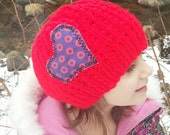 KIDS PHISH BEANIE  I Heart the Phunk Fishman Red  Crochet Winter Hat, Children's Size, Free Gift Wrap Option
