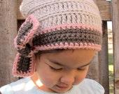 CROCHET PATTERN - Ladylike - a crochet slouchy hat pattern, crochet hat pattern in 3 sizes (Toddler, Child, Adult) - Instant PDF Download