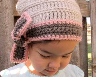 CROCHET PATTERN - Ladylike - crochet slouchy hat pattern crochet hat pattern slouchy hats (Toddler Child Adult sizes) - Instant PDF Download