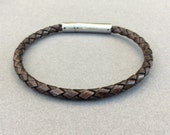 Mens Leather Bracelet, Braided Leather Bracelet, Men's Leather Jewelry, Jewelry for Him