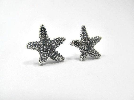StarFish Stud Earrings silver stud earrings, ocean earrings, beach earirngs