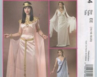 McCall's 4954 Egyptian, Greek, Roman Goddess Costume Pattern Size 14 - 20 UNCUT