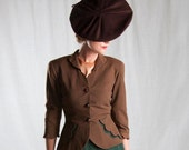 Reserved for Laura~ 1940's Green & Brown Suit Spectacular!