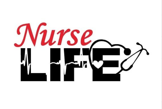 Nurse Life Decal Vinyl Decal Nursing Decal Medical