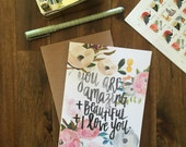 You Are Amazing - Handlettered Greeting Card - Perfect for Any Occasion