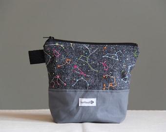 Reusable sandwich bag, reusable snack bag, ecofriendly, zipper, ProCare lined, back to school - Constellation