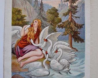 The Six Swans Book Grimms Series McLoughlin Bro's 1800s