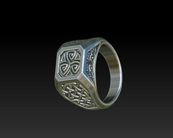 Wedding ring Signet ring Celtic ring mens ring RS6