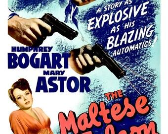 "Humphrey Bogart - The Maltese Falcon - Home Theater Decor - Classic Movie Poster Print - 13""x19"" or 24""x36"" - Film Noir Movie Poster print"