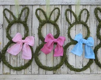 Bunny Wreath - Moss Bunny Wreath - Easter Wreath