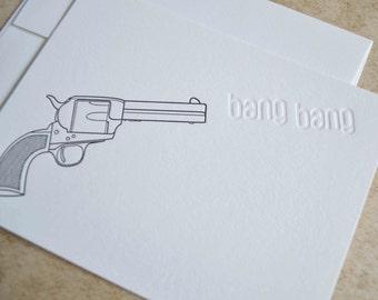 Bang Bang   Letterpress notecard