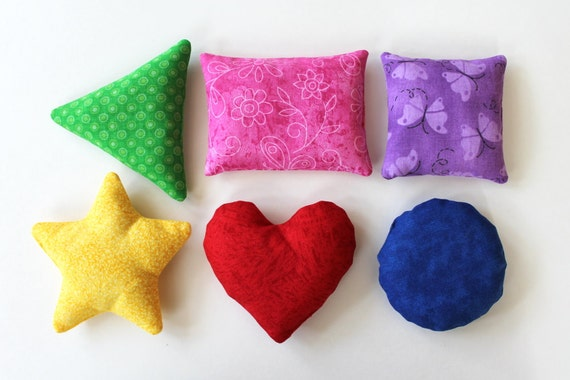 Rainbow Shape Bean Bags Set Of 6 Triangle Circle Rectangle