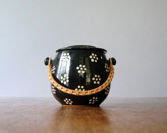 Mid Century Danish Sugar Bowl Jam / Honey Pot - Anker Keramic