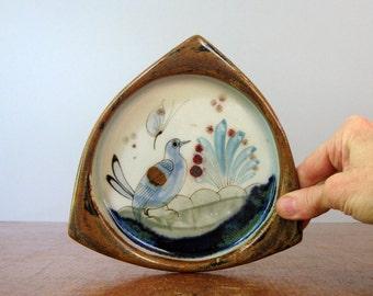 Vintage Tonala / Ken Edwards Bird / Butterfly Dish
