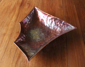 Unique Polygon copper bowl
