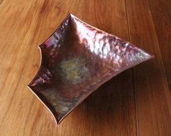 Unique Polygon copper bowl