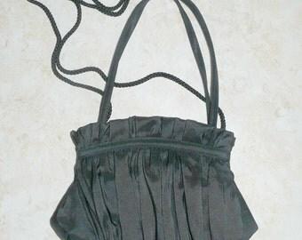 Evening Bag Black with Shoulder Strap by LaRegale Vintage