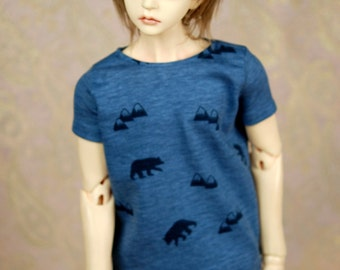 Super Gem/SD17 Blue Bear T Shirt For SD BJD
