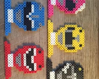 Power Rangers Fuser Perler Beads Keychain Lanyard Ornament Magnet