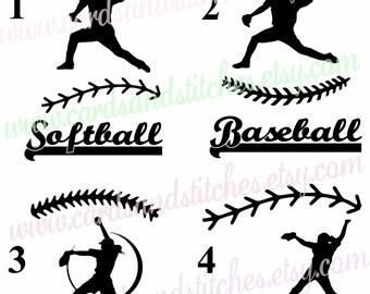 Baseball Vinyl Decal - Softball Vinyl Decal - Pitcher Decal OR Pitcher Iron-on Transfer - Baseball Iron-on - Softball Iron-on - DIY Iron-on