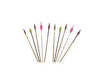 Set of 10 Vintage Arrows Wood Arrows Archery Arrows Decorative Arrows Arrow Home Decor