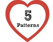 5 Crochet Patterns for 18 Dollars