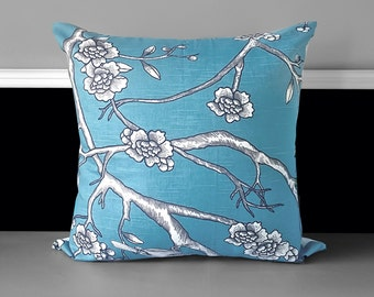 """Pillow Cover -  Dwell Studio Vintage Blossom Jade 21"""" x 21"""", Ready to Ship"""
