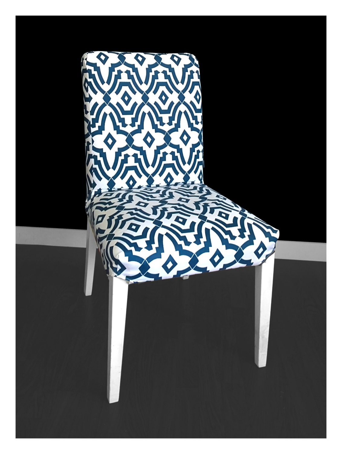 Blue Pattern IKEA HENRIKSDAL Dining Chair Cover : ilfullxfull10025966741d7f from www.etsy.com size 1132 x 1500 jpeg 207kB