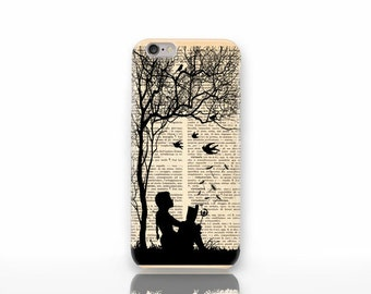 Little girl reading book 3D iPhone 6/6S case-iPhone 4/4S- iPhone 5/5S-Galaxy S4/S5/S6 case-iPhone 6 Plus case-by Natura Picta-NP3D020