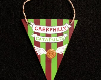 Caerphilly Catapults Mini Quidditch Pennant