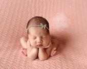 Baby Rhinestone Halo Headband Rhinestone Tie Back Headband Baby Headband Stunning Vintage Style Newborn Photo Prop