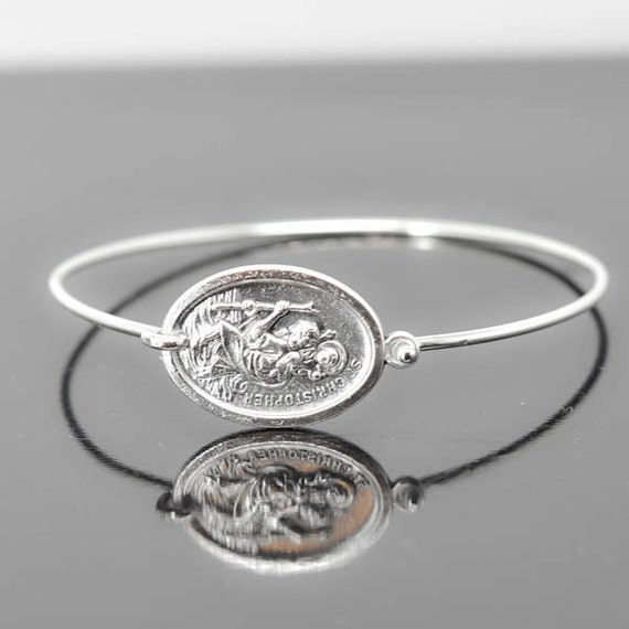 st christopher bracelet bangle st christopher jewelry