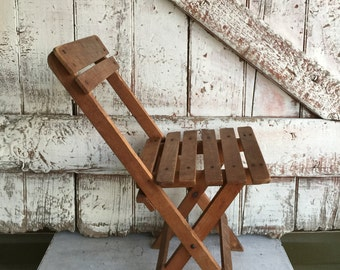 Childs wooden folding chair picket folding chair