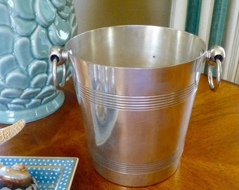 Vintage French Champagne Bucket Christofle Ice Bucket Barware Bar Accessories Art Deco Made in France
