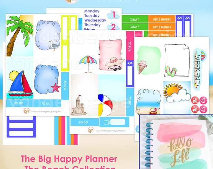 The BIG Happy Planner The Beach Collection- Weekly Planner Sticker Kit forthe MAMBI BIG Happy Planner