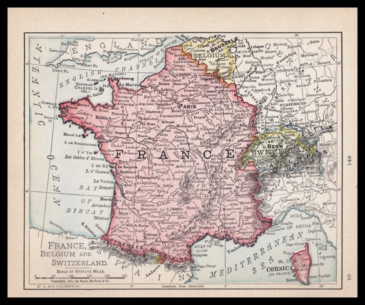 Small France Map Of Belgium Antique Wall Decor Color