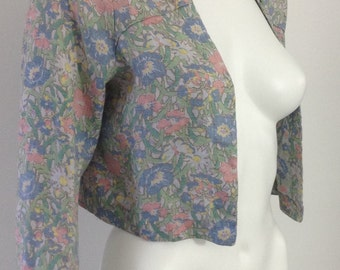 Sweet 1930's Floral Bolero