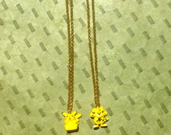 Friendship Pokemon Necklaces - Pikachu and Electabuzz