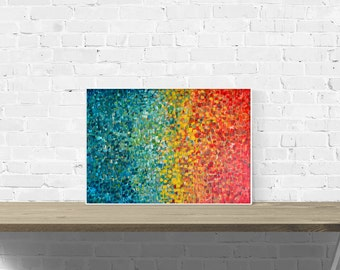Abstract Wall Art Print - Riviera - Teal, Turquoise, Yellow, and Orange Abstract Wall Art Print - Giclee Print of Louise Mead Abstract