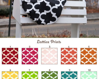 MADE TO ORDER Lattice Print Reversible Saddle Cover Many Colors